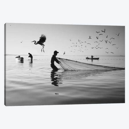 Fishermen Waters XVI Canvas Print #MOL357} by Moises Levy Canvas Art Print