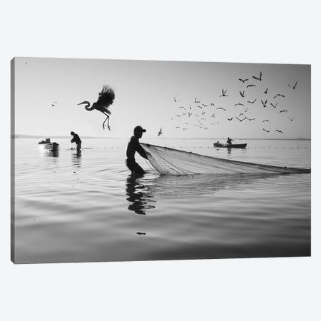 Fishermen Waters XVI Canvas Print #MOL357} by Moises Levy Canvas Art Print