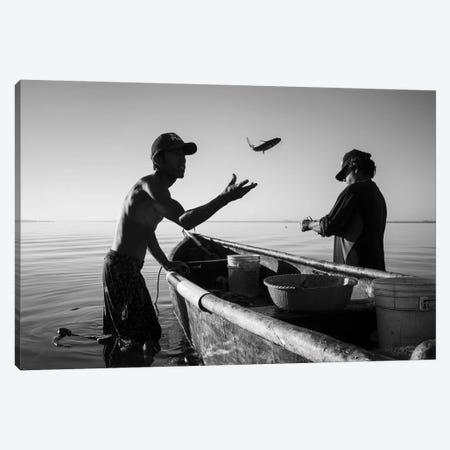 Fishermen Waters XVIII Canvas Print #MOL359} by Moises Levy Canvas Artwork