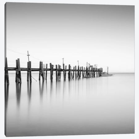 China Camp Pano BW, part 2 of 3 Canvas Print #MOL35} by Moises Levy Canvas Art