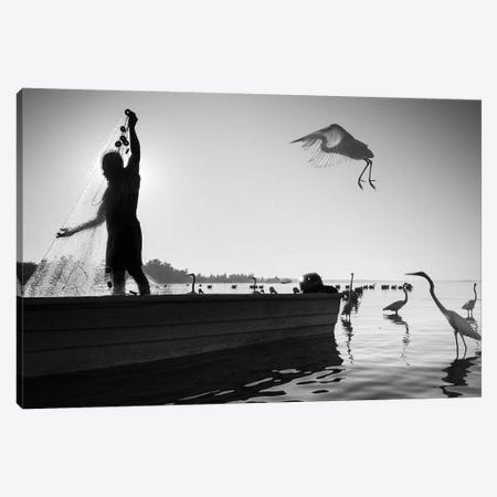 Fishermen Waters XIX Canvas Print #MOL360} by Moises Levy Art Print