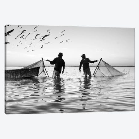 Fishermen Waters XX Canvas Print #MOL361} by Moises Levy Art Print
