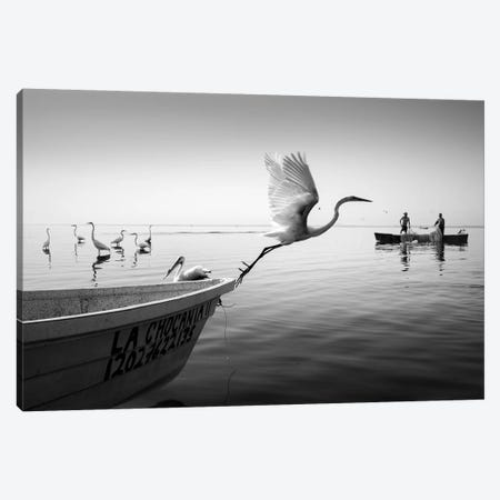 Fishermen I Canvas Print #MOL367} by Moises Levy Canvas Artwork