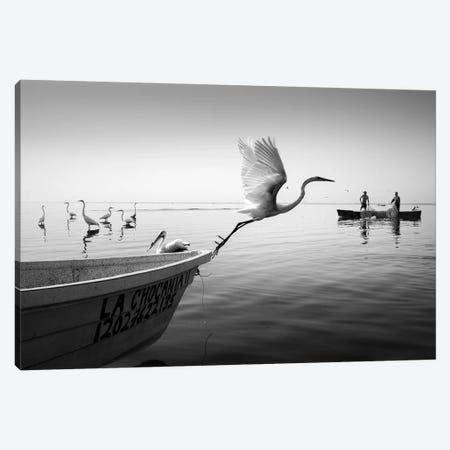 Fishermen I 3-Piece Canvas #MOL367} by Moises Levy Canvas Artwork