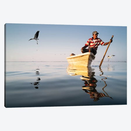Fishermen III Canvas Print #MOL369} by Moises Levy Art Print
