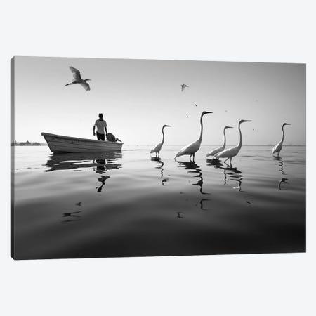 Fishermen IV Canvas Print #MOL370} by Moises Levy Canvas Artwork