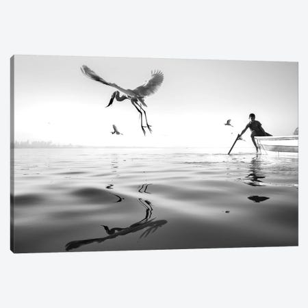 Fishermen V Canvas Print #MOL371} by Moises Levy Canvas Wall Art