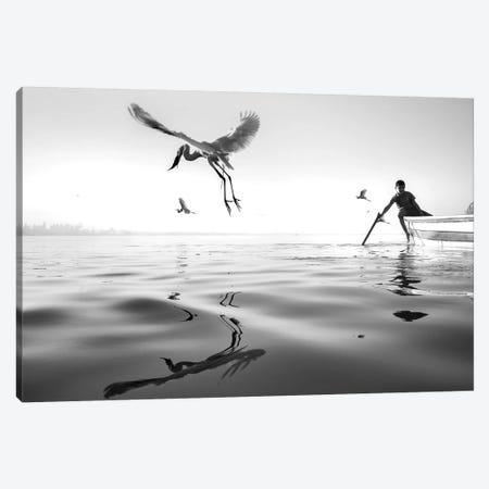 Fishermen V Canvas Print #MOL371} by Moises Levy Canvas Wall Art