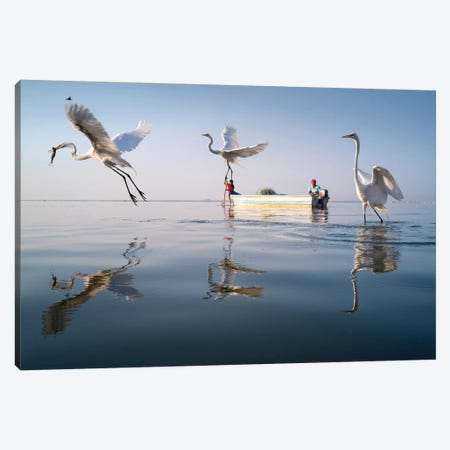Fishermen VI Canvas Print #MOL372} by Moises Levy Canvas Artwork