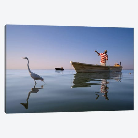Fishermen IX Canvas Print #MOL374} by Moises Levy Canvas Print
