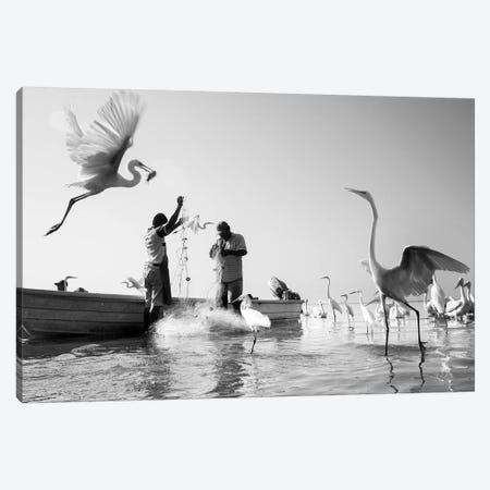 Fishermen XIII Canvas Print #MOL378} by Moises Levy Canvas Artwork
