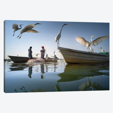 Fishermen XIV Canvas Print #MOL379} by Moises Levy Canvas Wall Art
