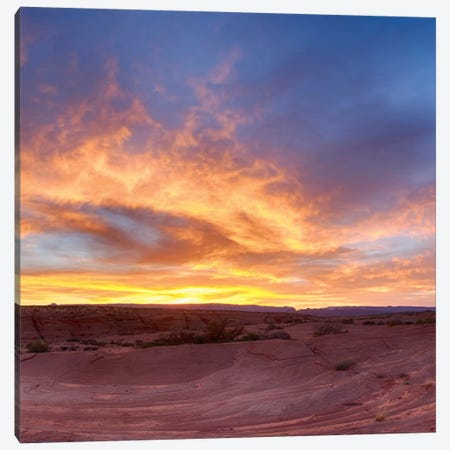 Fire, part 2 of 3 Canvas Print #MOL37} by Moises Levy Canvas Artwork