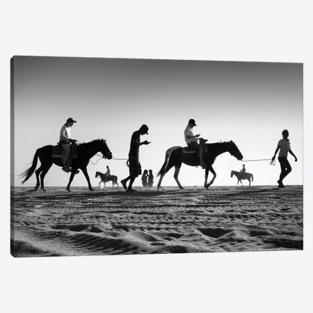 4 Horses Canvas Print #MOL385} by Moises Levy Canvas Artwork