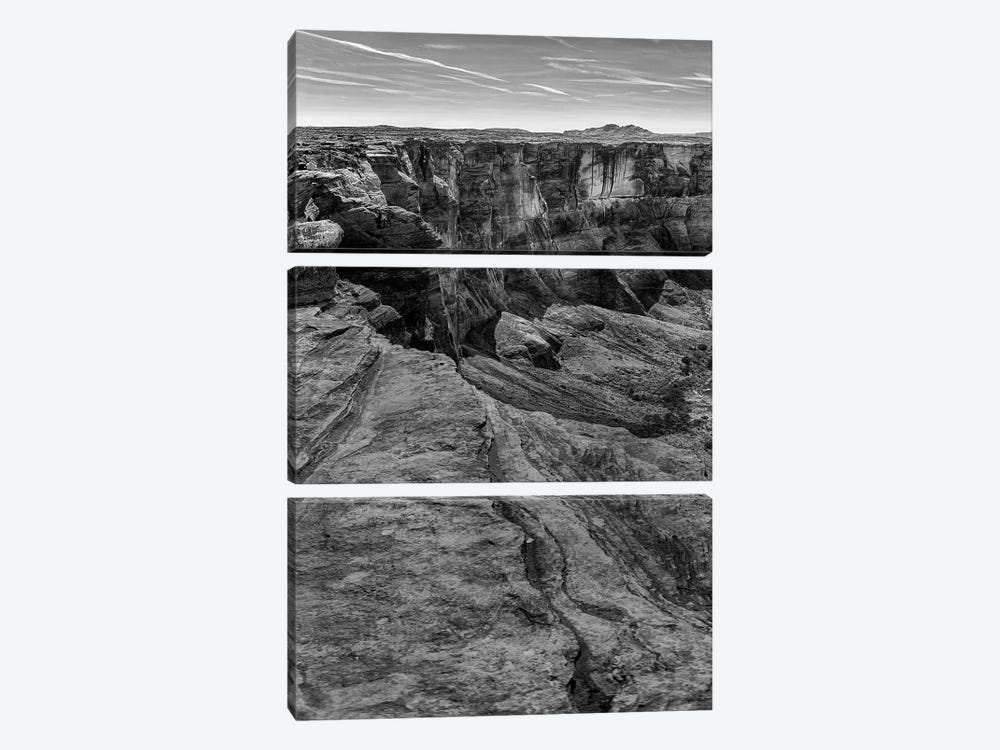 Horseshoe Bend BW, part 1 of 3 by Moises Levy 3-piece Canvas Wall Art