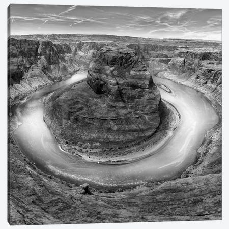 Horseshoe Bend BW, part 2 of 3 Canvas Print #MOL40} by Moises Levy Canvas Art