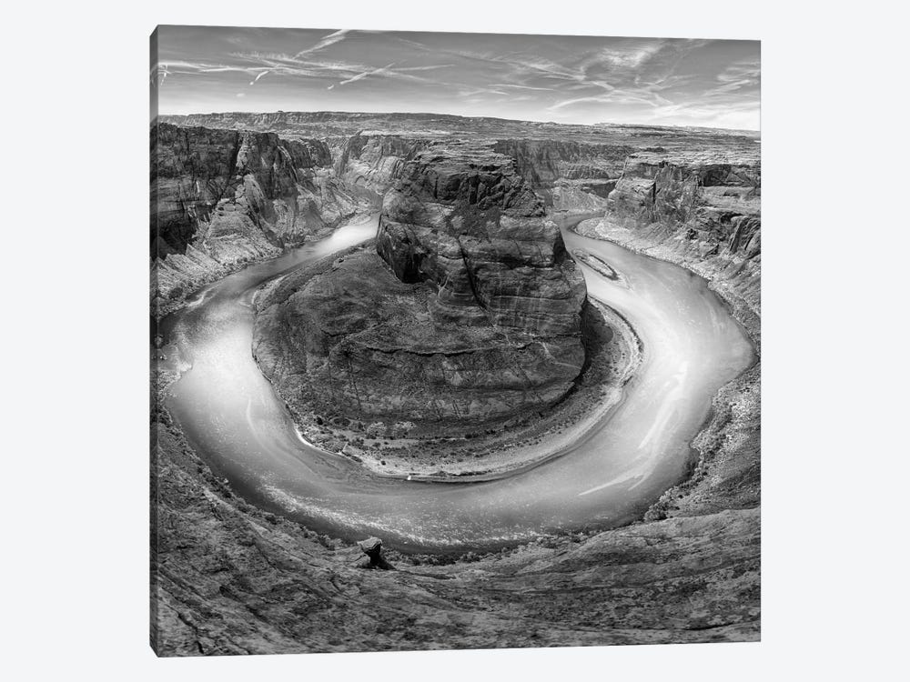 Horseshoe Bend BW, part 2 of 3 by Moises Levy 1-piece Canvas Art
