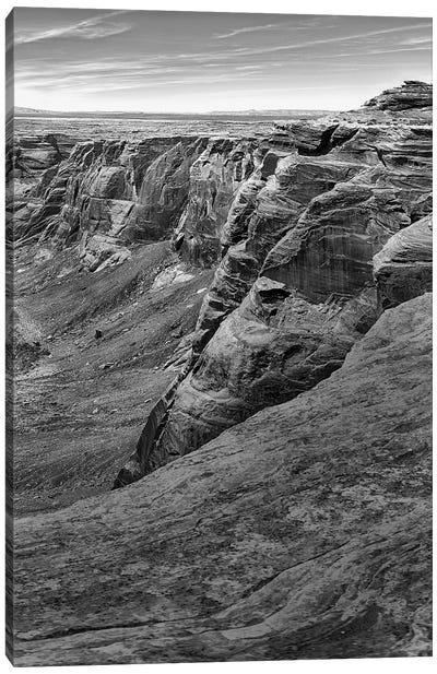 Horseshoe Bend BW, part 3 of 3 Canvas Art Print