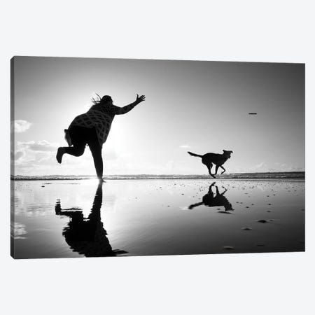 Flying Dog I Canvas Print #MOL455} by Moises Levy Canvas Artwork