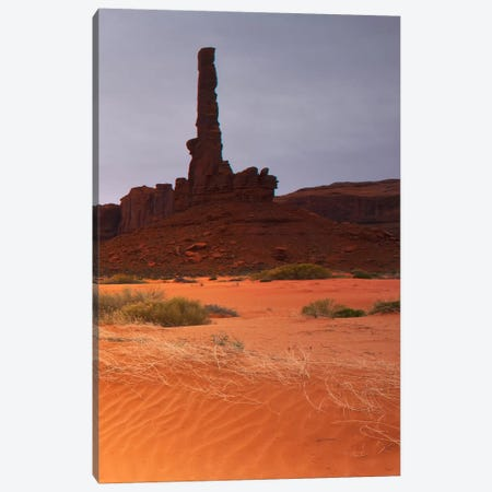 Monument Valley Panorama #1, part 3 of 3 Canvas Print #MOL45} by Moises Levy Canvas Art Print