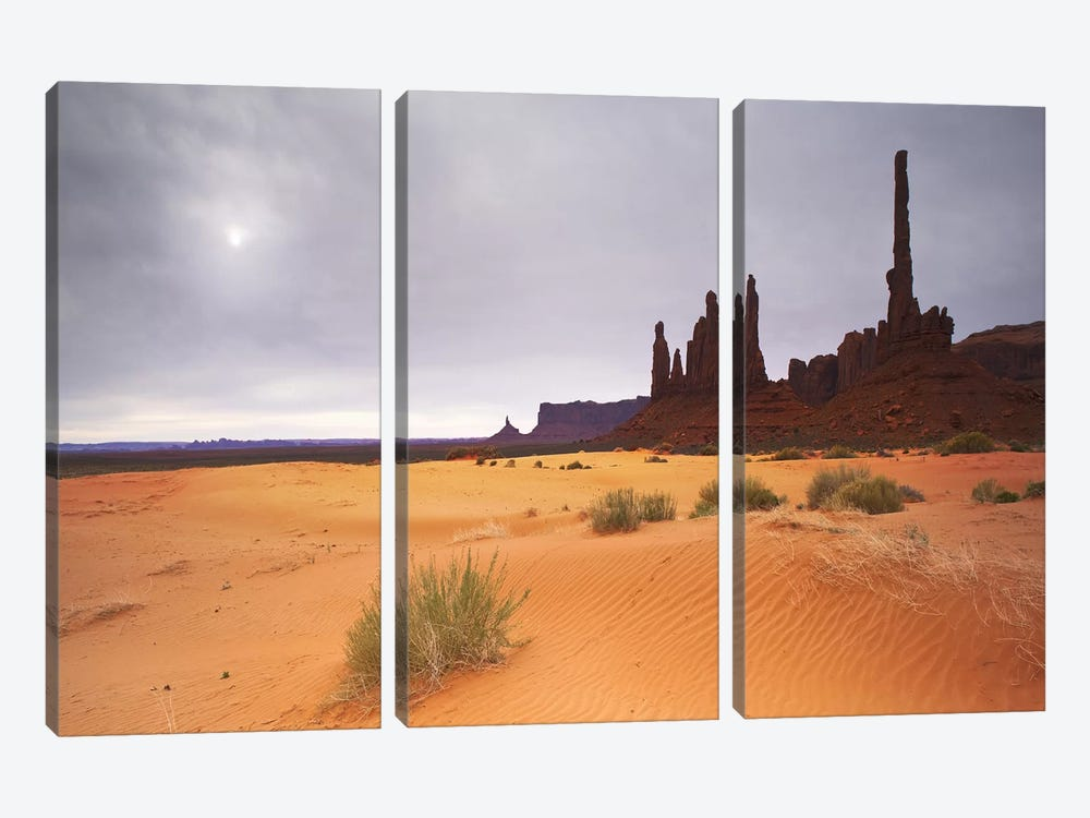 Monument Valley Panorama #1 by Moises Levy 3-piece Canvas Art