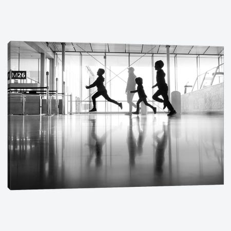 Happines at the airport Canvas Print #MOL472} by Moises Levy Canvas Art Print