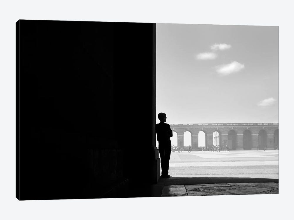 Man in Black by Moises Levy 1-piece Canvas Art