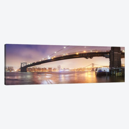 Brooklin Bridge Pano #1 Canvas Print #MOL5} by Moises Levy Canvas Wall Art