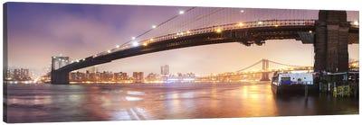 Brooklin Bridge Pano #1 Canvas Print #MOL5