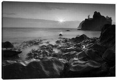 Sunset At Ruby Beach Canvas Art Print