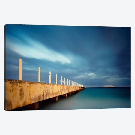 Muelle Playa 1 Color Canvas Print #MOL70} by Moises Levy Canvas Art Print