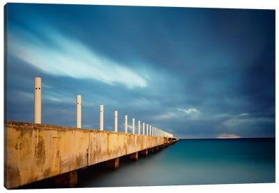 Muelle Playa 1 Color Canvas Print #MOL70