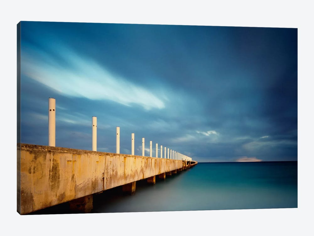 Muelle Playa 1 Color by Moises Levy 1-piece Art Print