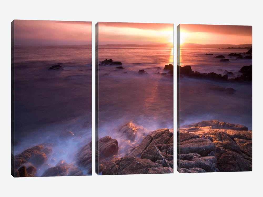 Rocas En Amanecer by Moises Levy 3-piece Canvas Art