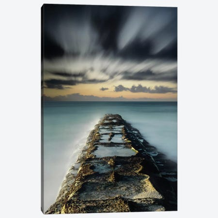 Wave Break Canvas Print #MOL75} by Moises Levy Canvas Art