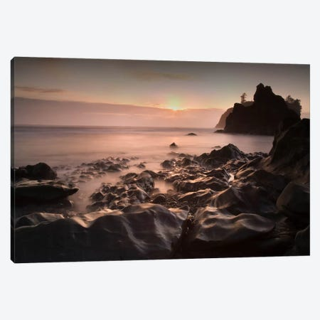 Ruby Beach 1-21 Color Canvas Print #MOL76} by Moises Levy Canvas Wall Art