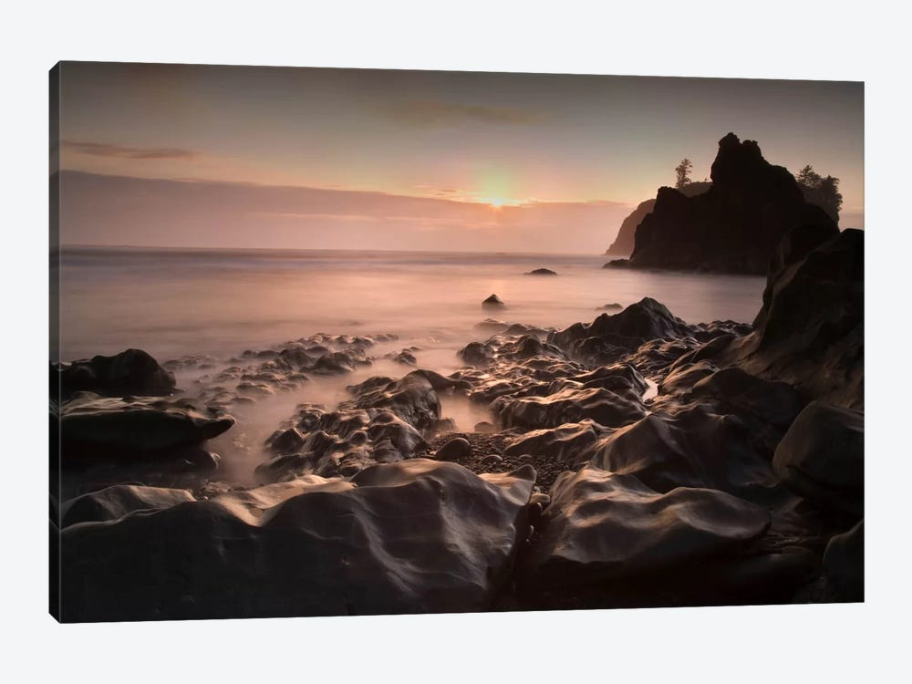 Ruby Beach 1 21 Color By Moises Levy Piece Canvas Print
