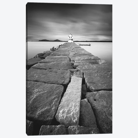 Breakwater Light Canvas Print #MOL84} by Moises Levy Canvas Print