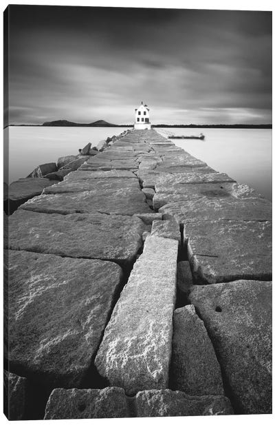 Breakwater Light Canvas Art Print