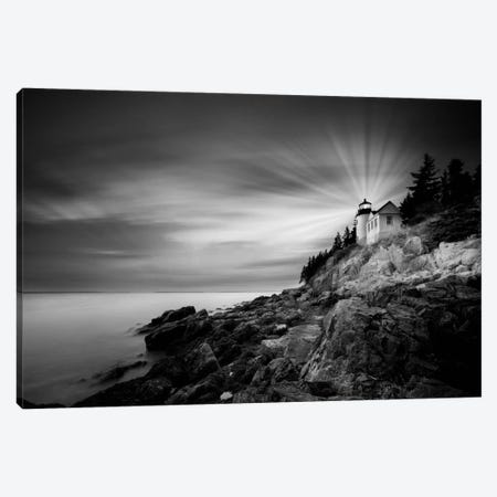Bass Harbor Lighthouse Canvas Print #MOL88} by Moises Levy Canvas Wall Art