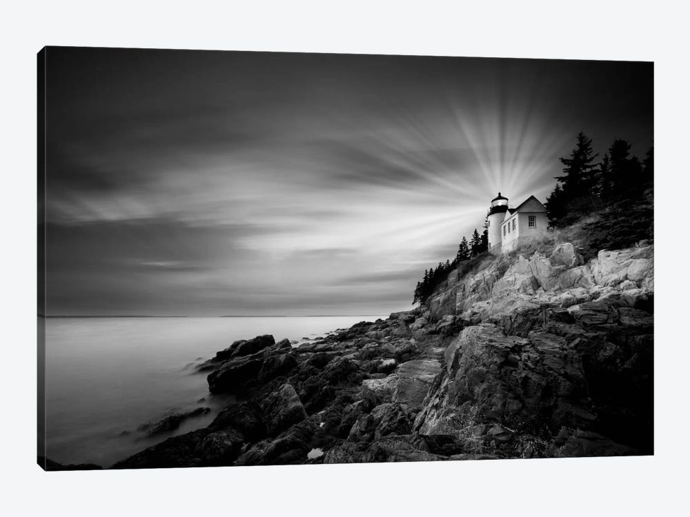 Bass Harbor Lighthouse by Moises Levy 1-piece Canvas Artwork