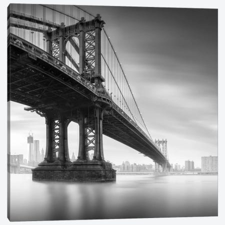 Manhattan Bridge #1 Canvas Print #MOL95} by Moises Levy Canvas Art