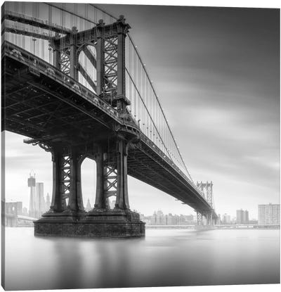Manhattan Bridge #1 Canvas Art Print