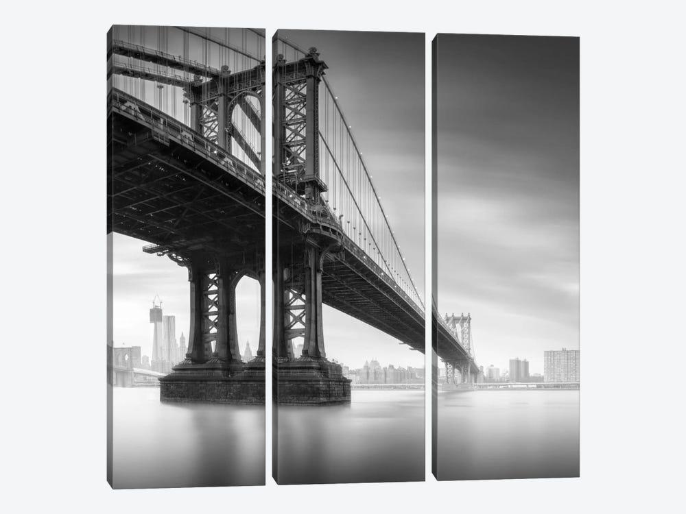 Manhattan Bridge #1 by Moises Levy 3-piece Canvas Artwork