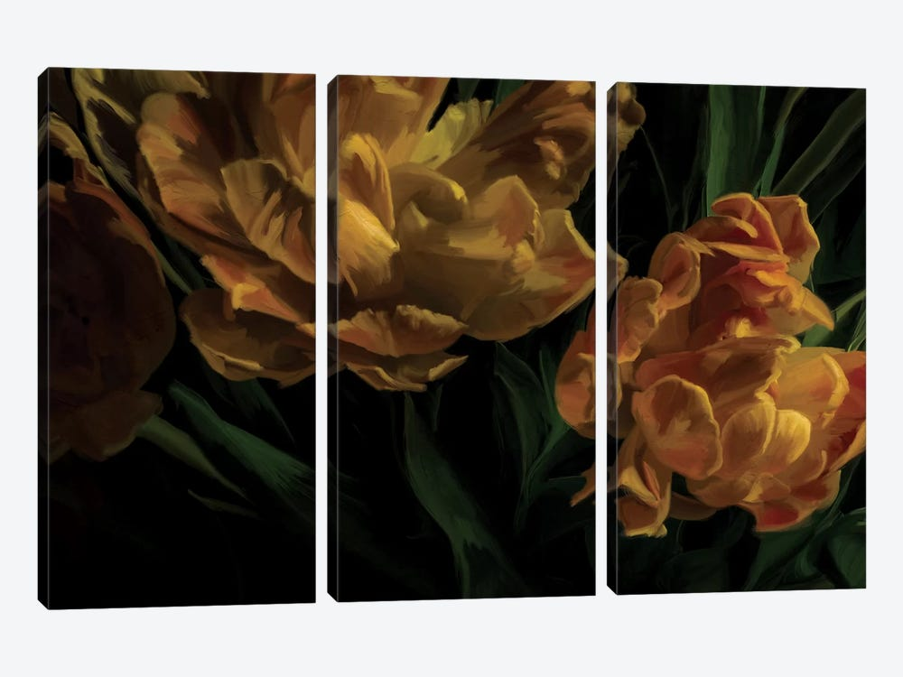 Tulips Citrine by 5by5collective 3-piece Art Print