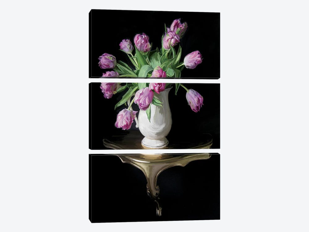 Cascading Tulips by 5by5collective 3-piece Canvas Art Print