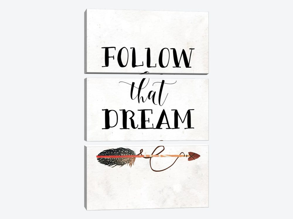 Follow That Dream I by Tara Moss 3-piece Canvas Artwork