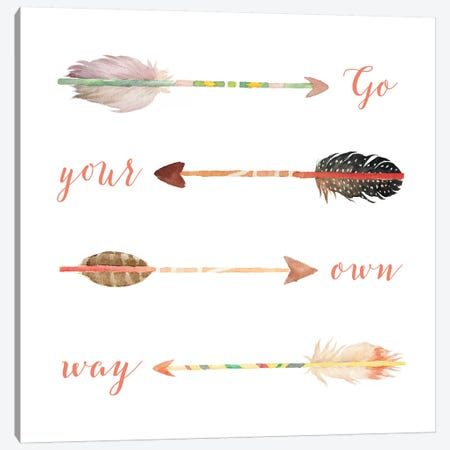 Go Your Own Way Canvas Print #MOS12} by Tara Moss Canvas Art