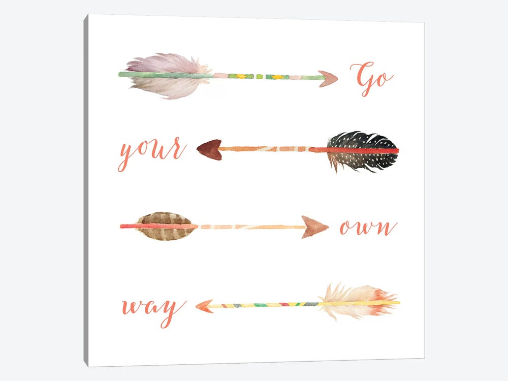 Go Your Own Way by Tara Moss 1-piece Canvas Artwork