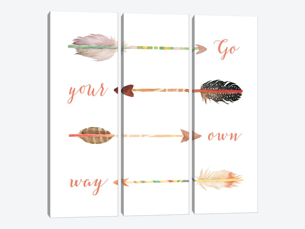 Go Your Own Way by Tara Moss 3-piece Canvas Art